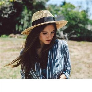 Brixton straw fedora hat